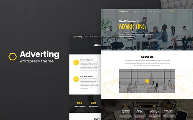 Adverting motyw WordPress