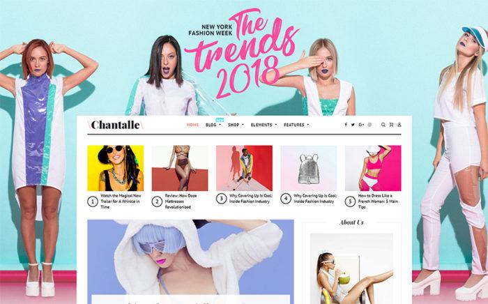 Responsywny motyw WordPress #52658 na temat: moda