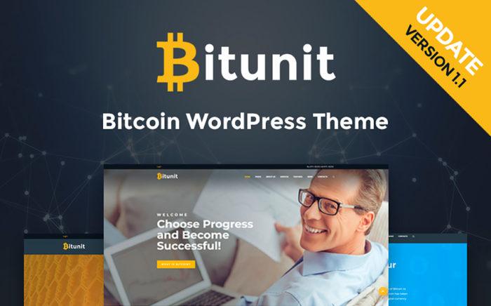 Bitunit - motyw WordPress dla strony sprzedawców kryptowaluty i bitcoinów