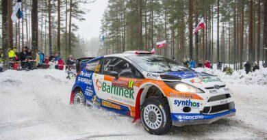 Michał Sołowow jadący Fordem Fiestą RS WRC