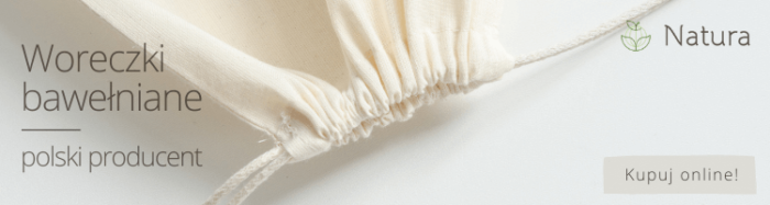 Woreczki bawełniane ze sznurkiem producent Natura